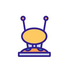 Round receiver hdtv antenna icon outline vector