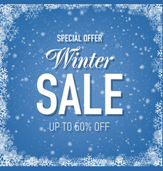 Sale poster with blue glitter background with vector