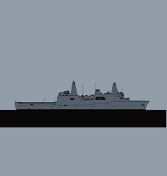 san antonio-class amphibious transport dock vector image
