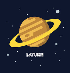 saturn on space background vector image