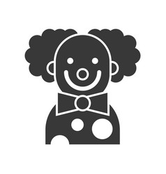 Scary clown or joker halloween character icon vector