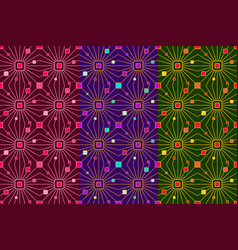 Seamless pattern with lines and colorful glares vector