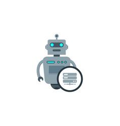 server robot logo icon design vector image