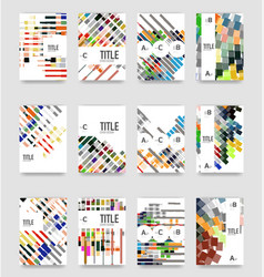 set of brochure cover templates vector image
