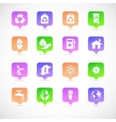 set of environmental icons vector image