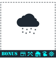 Snow icon flat vector