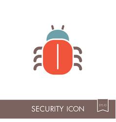 Software or program bug icon vector