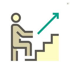 Step up icon design for business training vector