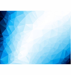 triangle abstract background of blue white winter vector image