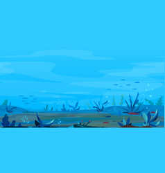Underwater landscape game background vector
