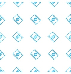 Unique 3d film seamless pattern vector image