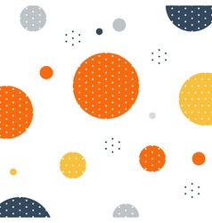 Unusual pattern with circles and dots background vector image