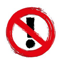 Warning icon traffic prohibit sign vector
