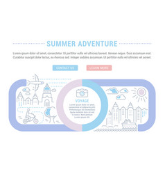website banner and landing page summer vector image