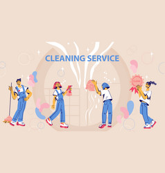 Website banner template for cleaning service ad vector