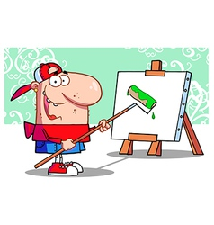 Young Painter Guy vector