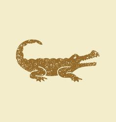 crocodile silhouette icon vector image
