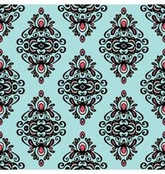 Damask vintage wallpaper seamless background vector image