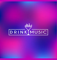 drink and music logo vector image