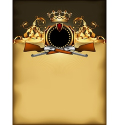 ornate frame with arms vector image