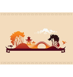 272 asia landscape tray vector image vector image