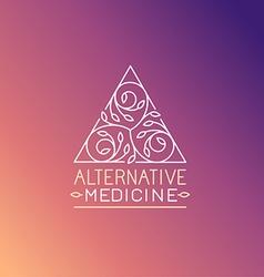 alternative medicine logo design template vector image vector image