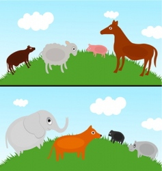 animals in nature vector image vector image