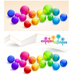 Colored bubbles vector image vector image