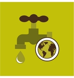 map earth environment ecological green tap water vector image