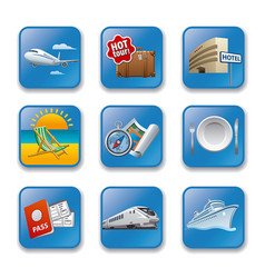 resort concept icons vector image