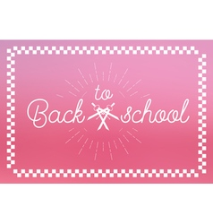 Back to School Label vector image