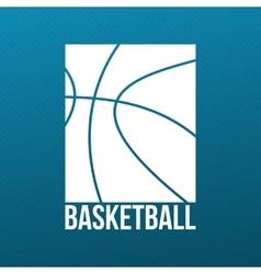 Basketball Print Design for T-Shirt vector image