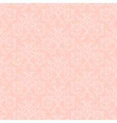 pink damask vector image