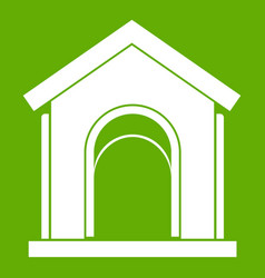 toy house icon green vector image vector image