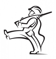worker with jackhammer vector image