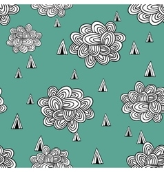 Abstract seamless pattern of clouds and rain vector image