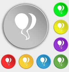 Balloon Icon sign Symbol on eight flat buttons vector image vector image