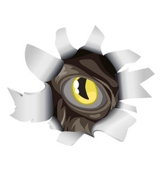 creature looking through tear vector image