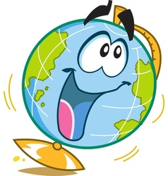 Happy fun globe vector