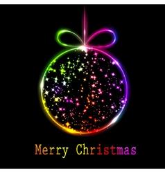 multicolored christmas ball vector image