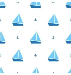 Sailing ships pattern vector image vector image
