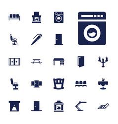 22 interior icons vector