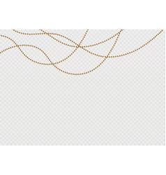 a beautiful chain of golden colorstring beads are vector image
