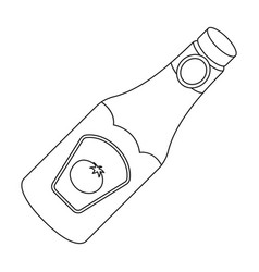 a bottle of ketchupbbq single icon in outline vector image