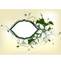 Abstract floral spring background with frame vector