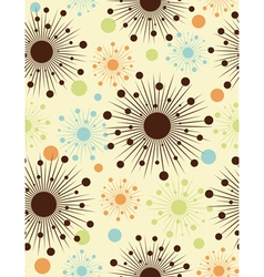 Abstract retro dots - seamless pattern vector image