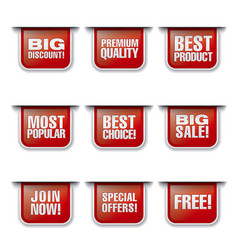 Advertising discount banners and stickers vector