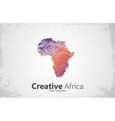 Africa Creative africa logo design Africa map vector image