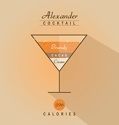 Alexander cocktail icon vector