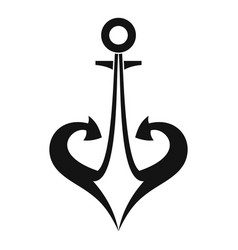 Anchor icon simple vector